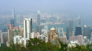 Stock Video Footage of Hong-Kong skyline (timelapse)