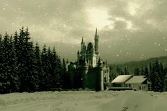 Castle winter Stock Footage