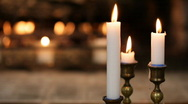 Fireplace and candles Stock Footage