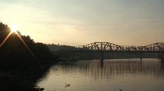 Brent Spence Bridge at Dusk Stock Footage