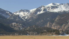 P00788 Pan of Rocky Mountains - stock footage