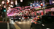 Stock Video Footage of Christmas Street Decor