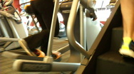 Stock Video Footage of Stair Steppers and Ellipticals HD