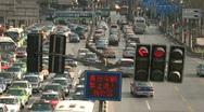 Downtown Shanghai heavy car trafic - Timelapse Stock Footage