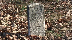 Old Kentucky Tombstone Stock Footage