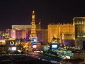 Las Vegas Strip - Night NTSC Stock Footage