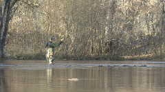 P00799 Fly Fishing Zoom Out Stock Footage