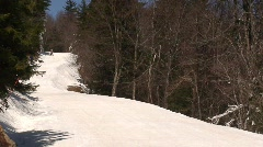 Snowboarders at Snowshoe Mountain Stock Footage