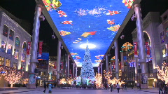 Asia China beijing Christmas decorations (2) - stock footage