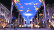 Stock Video Footage of Asia China beijing Christmas decorations (2)