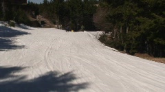 Skiing Perspective at Snowshoe Mountain Stock Footage