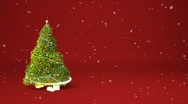 Stock Video Footage of Christmas tree animation