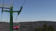 Snowshoe Mountain Ski Lift Stock Footage