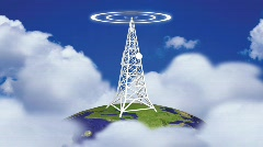 Transmission Tower in HD Stock Footage