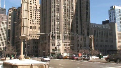 Chicago Tribune Building Stock Footage