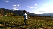 Stock Video Footage of Young boy walking in nature