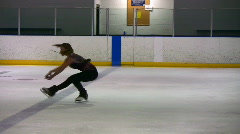 Figure skating sit spin03 Stock Footage