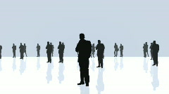 Silhouette people Stock Footage