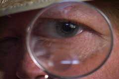 Magnified Male Eye Stock Footage