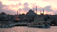 Istanbul Ferry Dock Stock Footage