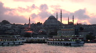 Stock Video Footage of Istanbul Ferry Dock