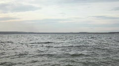 Waves on the lake - stock footage