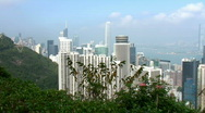 Stock Video Footage of Hong Kong cityscape (pan)