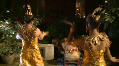 Traditional Thai dancing Stock Footage
