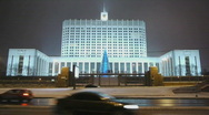 HD1080p White House Moscow City by night Stock Footage