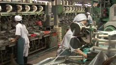 Silk making Stock Footage