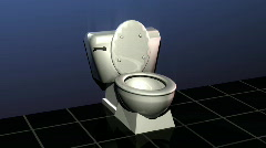 444 Magic Toilet Stock Footage