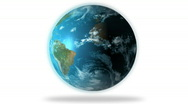 Stock Video Footage of 1080 HD Slowly Rotating Earth Globe Animation on white