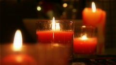 Holiday Candles and Candlelight Stock Footage