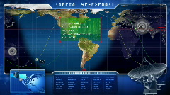 GPS scan over global map  - stock footage