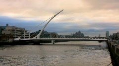 Samuel Beckett Bridge Stock Footage