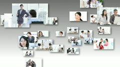 Collage of women at work Stock Footage