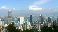 Stock Video Footage of Hong Kong cityscape (detail)