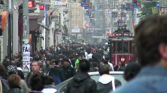 Istiklal Tram Istanbul - stock footage