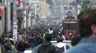 Istiklal Tram Istanbul Stock Footage