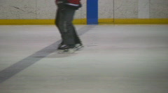 Figure skater and hockey player Stock Footage
