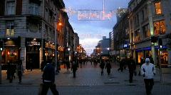 Earl Street Dublin 1 Stock Footage