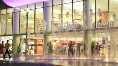 Shopping Mall at Night Stock Footage