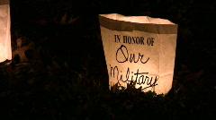 military memorial luminary - stock footage