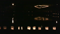 Luminaries and heart Stock Footage