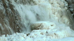 Waterfall Partially Frozen Stock Footage