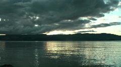 Dramatic sunrise on Baikal lake Stock Footage
