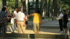 Boules  playing at Arc De Triomph  Stock Footage