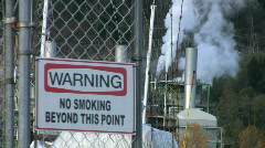 Warning No Smoking Sign-Selective Focus Stock Footage