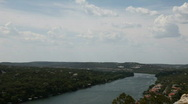 Stock Video Footage of Mt Bonnell and 360 bridge