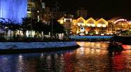 Stock Video Footage of Clarke Quay